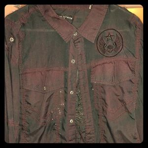 Affliction long sleeve button down
